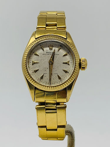 Rolex Oyster Perpetual Honeycomb Swiss Only Dial 6509 *UNPOLISHED*