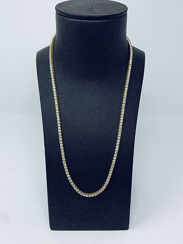 14K Yellow Gold 20CT Diamond Tennis Chain