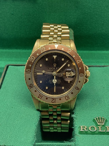 Rolex GMT-Master 1675 Root beer Nipple Dial