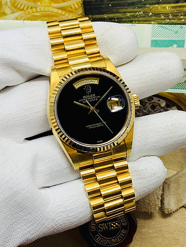 Rolex President Day-Date Factory Onyx Dial *FULL SET*