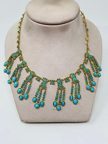 18K Iranian Turquoise Necklace *Gorgeous Piece*