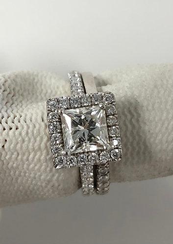 14K Engagement Ring Set (Wedding Band & Engagement Ring) EGL CERTIFIED