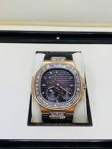 Patek Philippe Jumbo Nautilus 5712 18k Rose Gold Watch With Original Box
