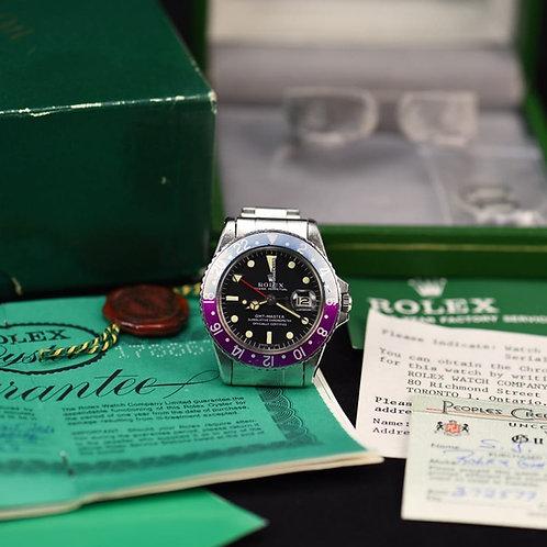 Rolex GMT-Master Fushia Bezel 1968 (One Owner)