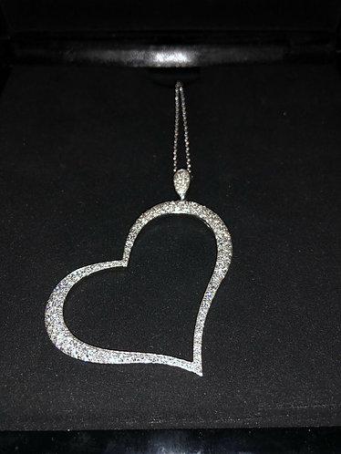 Piaget Necklace Limelight Diamond Heart Motif K18 White Gold