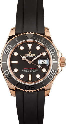 Rolex Yacht-Master 40mm 116655 18k Everose Gold Rubber