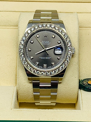 Rolex Datejust II 41MM Custom made Diamond Bezel