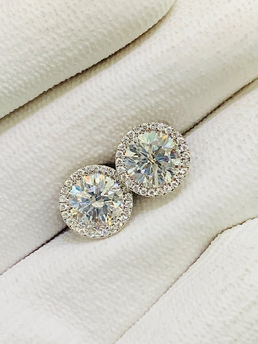 Diamond Studs on Martini Setting