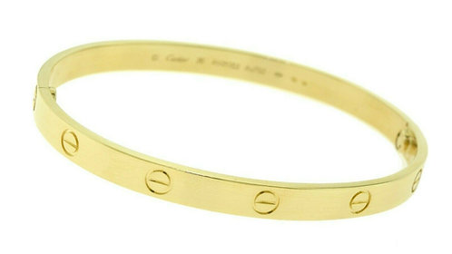 100% Authentic CARTIER Love Bracelet In 18K Yellow Gold Size 20 Complete Set