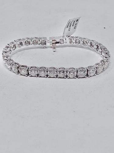 18K Diamond 14.52CT Tennis Bracelet