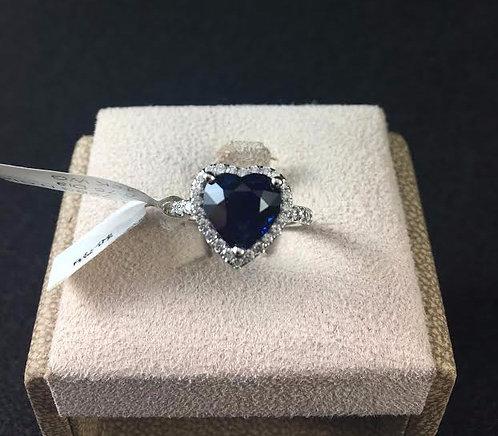 Sapphire Heart-Shaped Ring