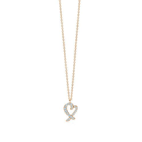 Tiffany & Co. Paloma Picasso 18K Rose Gold Loving Heart Pendant