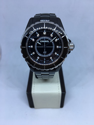 Chanel J12 Ceramic Black with Diamond Dial