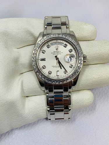 "Rolex Masterpiece Ref. R1895661 Silver ""A"" 8BR & 2BAG"
