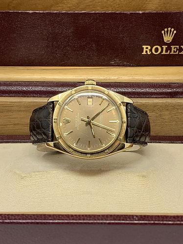Rolex Date 14K Tropical Brown Dial