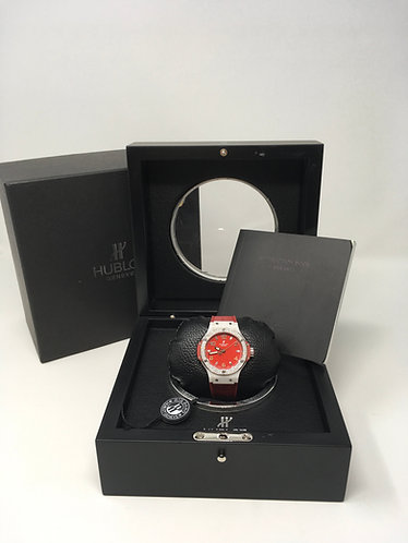 Hublot Big Bang Red Dial with Factory Diamond Bezel 36mm