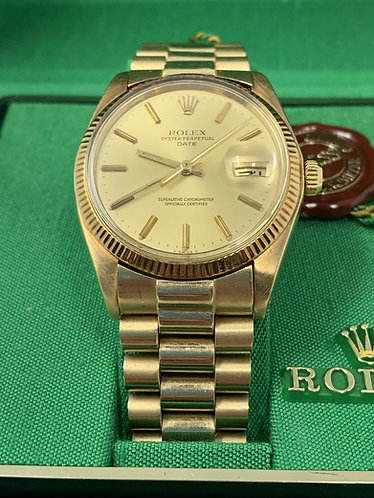 Rolex 14K Gold Oyster Perpetual Date 34MM