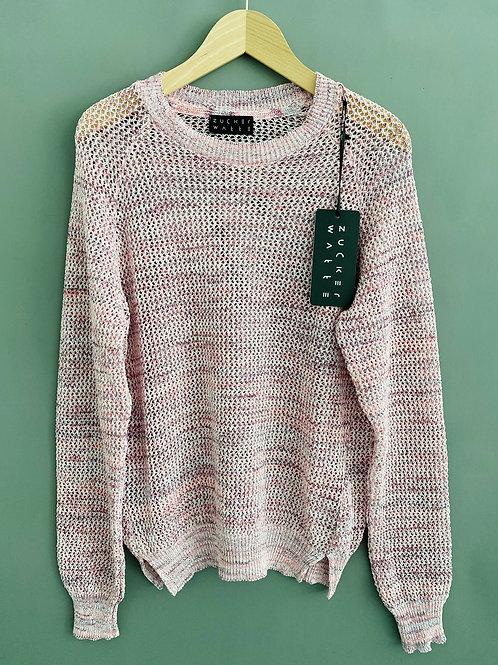 Artikel 10610 - Pullover Leichtstrick Rundhals Baumwolle