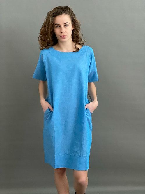 Artikel 10587 - Kleid Leinen Baumwolle