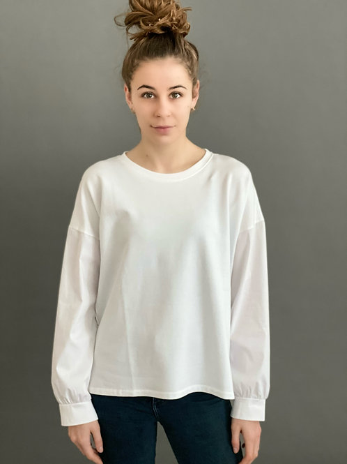 Artikel 10528 - Sweat T-Shirt mit Blusenärmeln