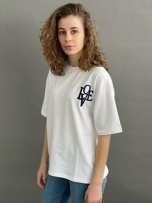 Artikel 10520 Var. A -   leichtes Sweat T-Shirt mit Stickapplikation