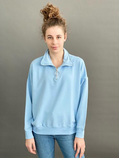 Artikel 10123 Sweatshirt mit  Troyerkragen