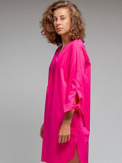 Artikel 10579 - Blusenkleid mit V-Ausschnitt 3/4 Arm