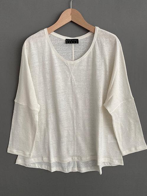 Artikel 10536 - Langarm T-Shirt 100% Leinenjersey