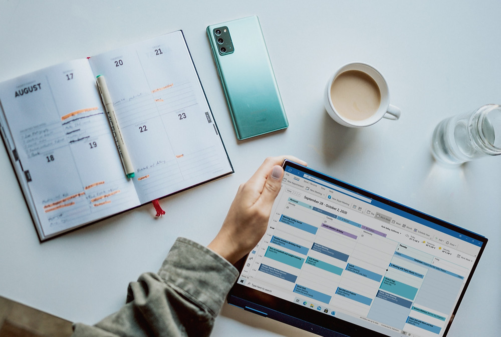 Break down goals and plans into your calendar and planner to increase time management and success.