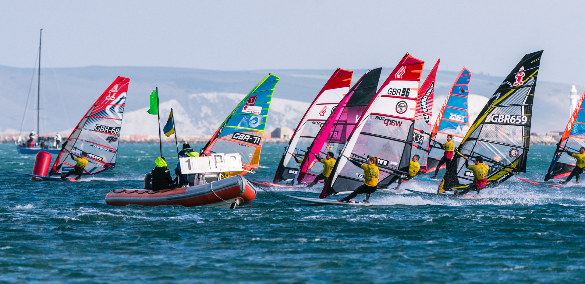 Scott nails his start and James with work to do in a Weymouth heat - Credit: Andy Stallman