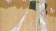結び - 胡蝶 -     檜の板 / アクリル 色鉛筆