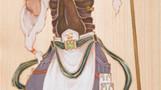 - syncretism(シンクレティズム) -  北の地に護りの風 - 毘沙門天 -      檜の板 / アクリル 色鉛筆