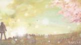 勇者の唄 -ミュージシャン望月俊 アルバムジャケット用イラスト-            松の板 アクリル絵の具 色鉛筆
