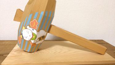 開運en-gi紋  - 招き小槌 - 左招き       伊勢神宮の小槌 アクリル 色鉛筆 2015.3