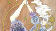 -Planktosの五行説- 金  ミズメ(板) 膠 水干絵具  石膏 色鉛筆  2018.8