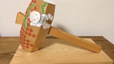 開運en-gi紋  - 招き小槌 - 右招き       伊勢神宮の小槌 アクリル 色鉛筆 2015.3