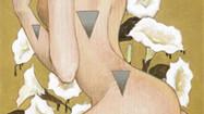 - 花と毒 - 曼荼羅華     松の板 / アクリル 色鉛筆