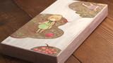 【まじないのハコをとじた】  隣接可能性領域のハコ(部分)           桐箱 / 膠 水干絵具 石膏  色鉛筆 和紙  113 × 217 × 23mm  2019.4