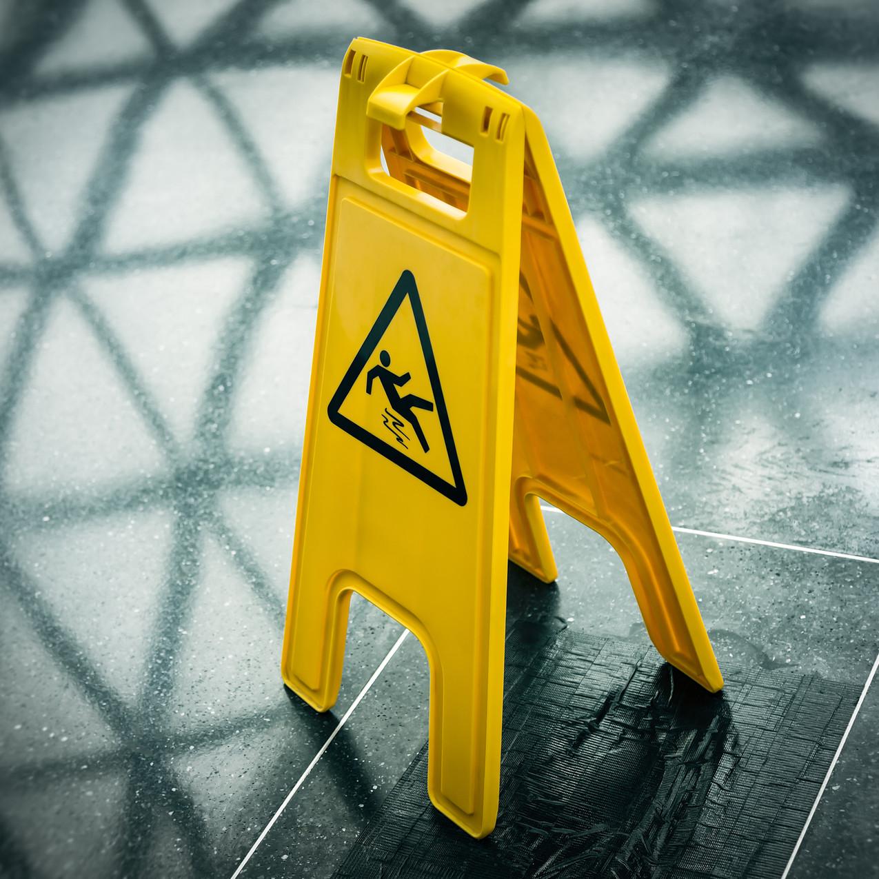 Wet floor.