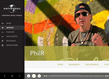 PhilR: Artiste Universal Music France