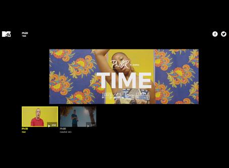 Entrée du clip TIME sur la chaine MTV Italia