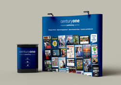 Century One Publishing pop-up stand