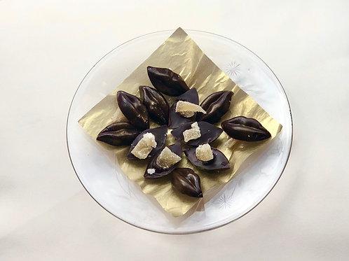 X12 Levres chocolat noir et gingembre confit