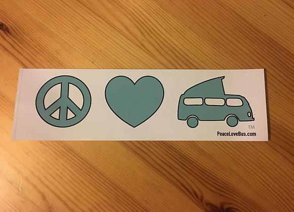 Peace Love Bus - Bumper Sticker