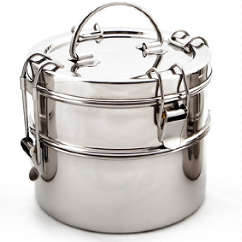 Stainless Lunch Pail - 2 Tier