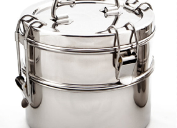 Stainless Steel Lunch Pail - 2 Tier