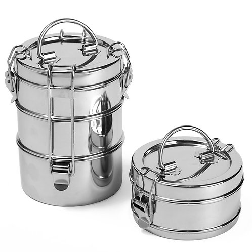 Stainless Lunch Pail - 3 Tier