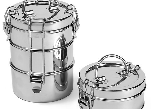 Stainless Steel Lunch Pail - 3 Tier