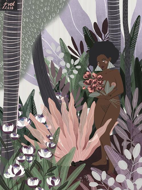 Muted Gardens-Art Print
