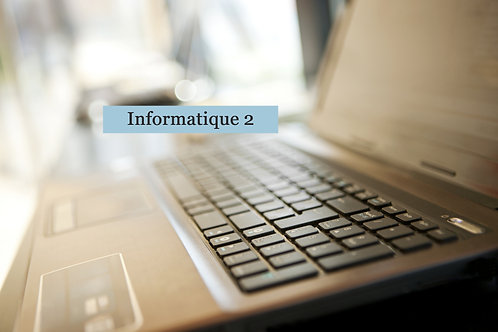 Informatique 2 : Maintenance, performance et sécurité